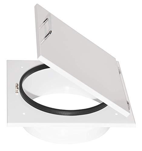 Wäscheschacht Türe Metall weiß (Rahmen 370mm für Rohr 300mm)