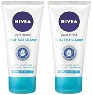Nivea Pure Effect Total Face Cleanup 150 ml - 2 pk(Ship from India)