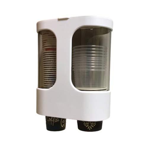 XIE Dispenser di Bicchieri di Carta USA e Getta a Parete per Bicchieri di plastica o di Carta, Organizer di Bicchieri di Carta, portabicchieri di distributori d'Acqua (white-1pack)