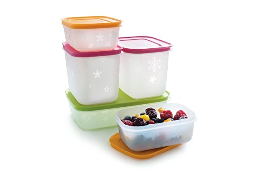 Tupperware Freeze It Starter set 2 x 1,9 cup, 2 x 4.6 cup, 1 x 4.2 cup