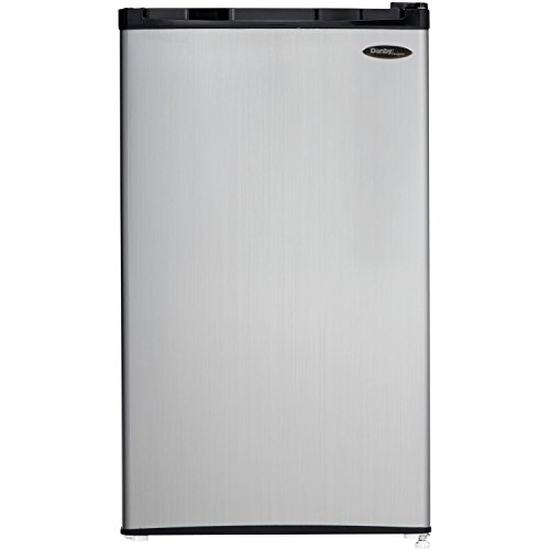 DANBY DCR032C1BSLD 3.2 cu. Ft. Compact Refrigerator with Freezer Silver