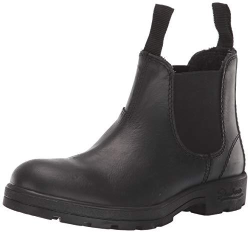 Skechers Herren Peaked-Waterproof Leather Boot with Memory Foam Cushioning Chelsea, Stiefel, schwarz, 38 EU