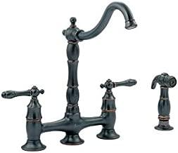 Glacier Bay Lyndhurst 2-Handle Bridge Side Sprayer Kitchen Faucet in Mediterranean Bronze