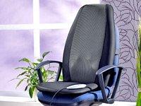 Preisvergleich Produktbild Premium Massageauflage mit Tiefenwärme für Auto und Zuhause 12V / 230V