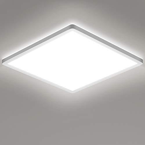 LED Deckenleuchte, STANBOW 18W flache Deckenlampe, 5000K, 1600LM für Wohnzimmer, Schlafzimmer,Badezimmer, Balkon, Küche, Flur, 295x295×25 mm (Kaltweiß)