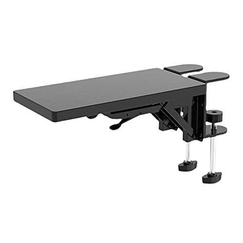 Extensor de escritorio para bandeja, abrazadera, escritorio para computadora, soporte para reposo de manos, soporte para brazo, alfombrilla para ratón para juegos, cojín para la muñeca, alivia el