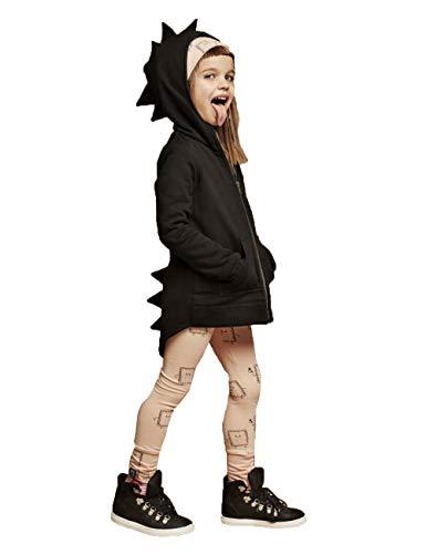 Alleen Baby Kinder Kleidung Herbst Dinosaurier Langarm Tops Hoodie für Jungen 1-7Jahre (Größe 110, Schwarz)