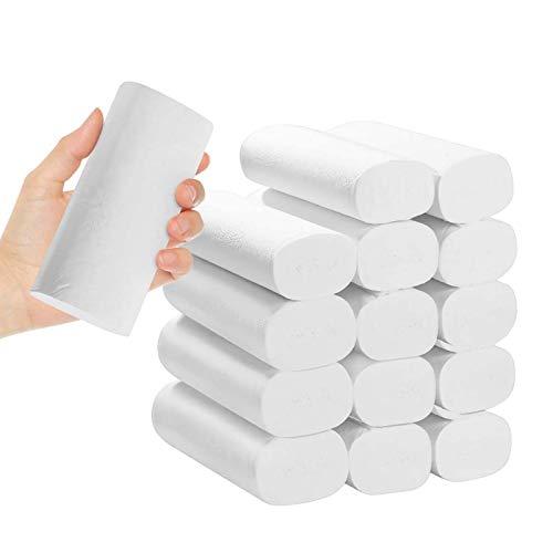BANGSUN Toallas de mano de papel de seda suave S sin núcleo de alta absorción 36 rollos