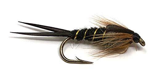 Feeder Creek Stonefly Nymphen, 10 Stück, Schwarz