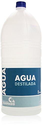 Agua destilada Cuadrado garrafa 5 l.