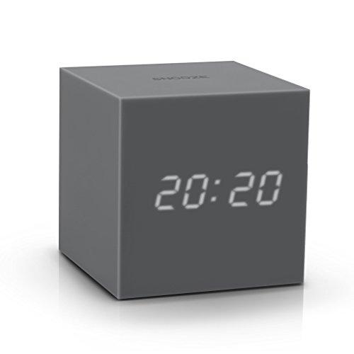 Gravity Cube Click Clock - GREY by Gingko Electronics