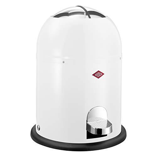 WESCO Mini Master Abfalleimer 6 L, Weiß