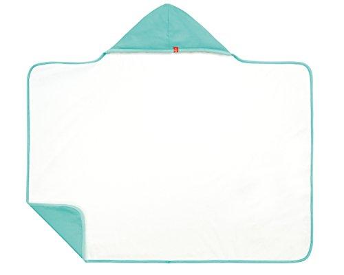 LÄSSIG baby kinderen capuchon handdoek omkeerbaar zandafstotend badstof strandhanddoek handdoek capuchon shirt UV-bescherming 50+/hooded handdoek maat 0-24 maanden 0-24 Monate aqua