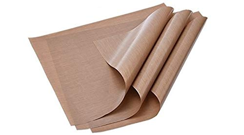 "3-Pack Teflon Mat Oven Liner Sheets 16' x 20"" for Heat Press Transfers for Arts, Craft Sheet, Baking Non Stick BPA and PFOA Free Protects Iron and Work Area from Messy Glue, Inks or Paint"