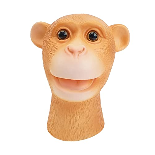 Yolococa Monkey Hand Puppet Realistic Latex Soft Animal Toy Storytelling Role Play Party Supplies...