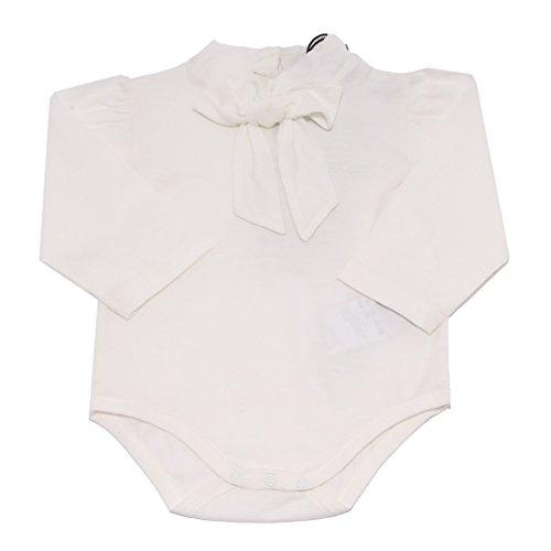 Dolce & Gabbana 4166V Body Bimba Avorio Manica Lunga t-Shirt Kid [9/12 Months]