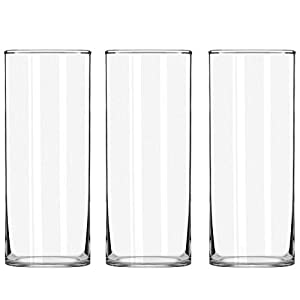 Silk Flower Arrangements STARSIDE 3 Pack Clear Glass Cylinder Vases, Table Flowers Vase, for Home & Wedding Decrations and Formal Dinners (10 Inch)