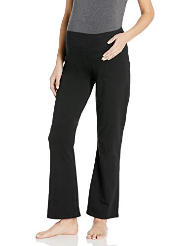LAMAZE Maternity Women's Maternity Active Yoga Pant, Black, Small