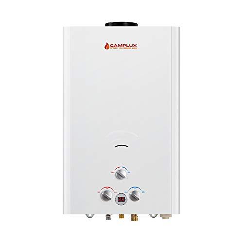 Camplux BW422 16 Liter Gasdurchlauferhitzer Tankless, Gas Propan Durchlauferhitzer Instant für den Außenbereich