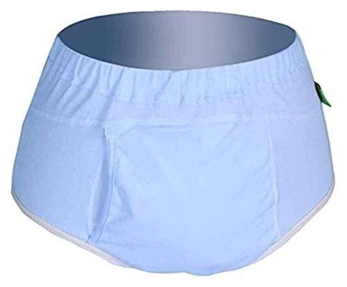 Bragas de incontinencia Ropa interior Ropa de incontinencia urinaria reutilizables lavables, ropa interior breve de algodón con área absorbente para mujeres, hombre masculino necesidades especiales
