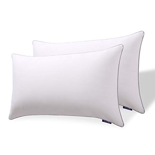 Sweetnight Pillows Pack of 2 Luxury Bed Pillows for Neck Pain Sufferers-100% Cotton Fabric Anti...