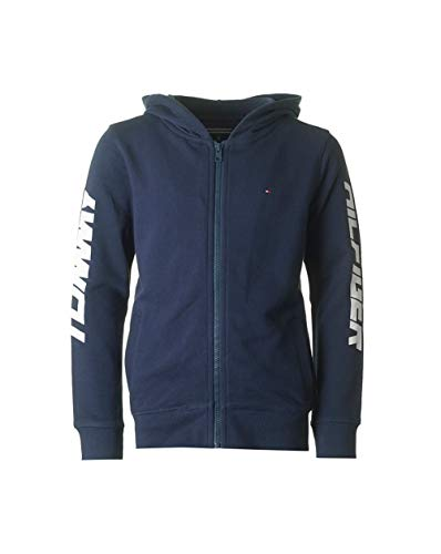 Tommy Hilfiger Logo-Arm-Zip durch Hoody Navy Age 4