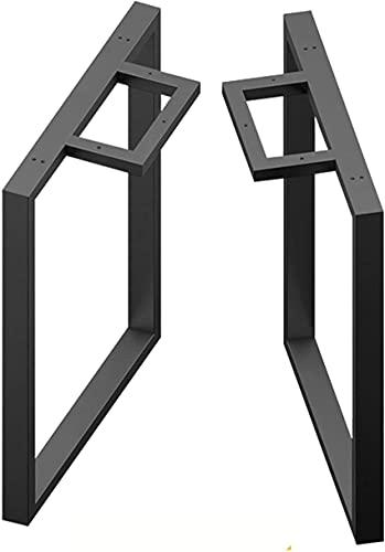 ZXLRH 2X Patas rectangulares de Acero para Mesa, Patas de Muebles de Metal Industrial, Base de Mesa con Marco de Bricolaje, para Mesa de Centro Pesada/Pata de Mesa de Bar