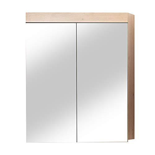 trendteam smart living badkamer spiegelkast spiegel A✞, 60 x 77 x 17 cm in Kopus zonder verlichting 60 x 77 x 17 cm eiken met knoesten
