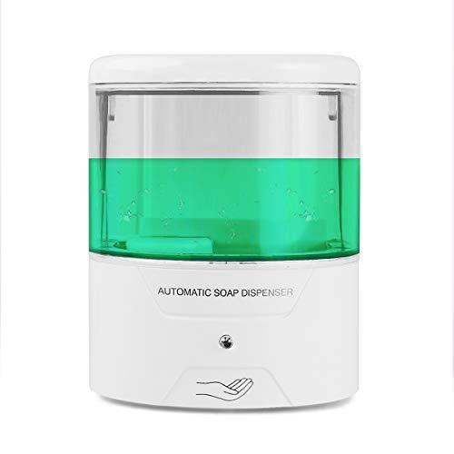 S SUNSBELL Touchless Soap Dispenser, Wall Mount Automatic Soap Dispenser, Motion Sensor Pump Battery Powered Hand Sanitizer Dispenser for Gel/Liquid (S02 - 600ml )