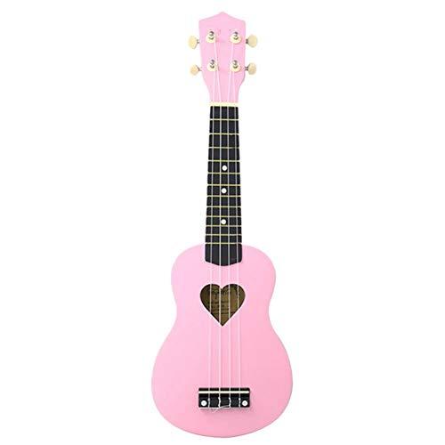 ZGHNAK Ukulele da concerto Mcool 23 pollici Ukelele rosa 4 cordeMini chitarra a forma di cuore Foro tono tono legno tiglio Uke
