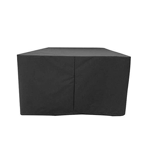 AMDHZ Couverture de mobilier d'extérieur Coupe-Vent Rainproof Protection Anti-UV Couverture rotin équipement, 24 Tailles (Color : Noir, Size : 60X60X100cm)