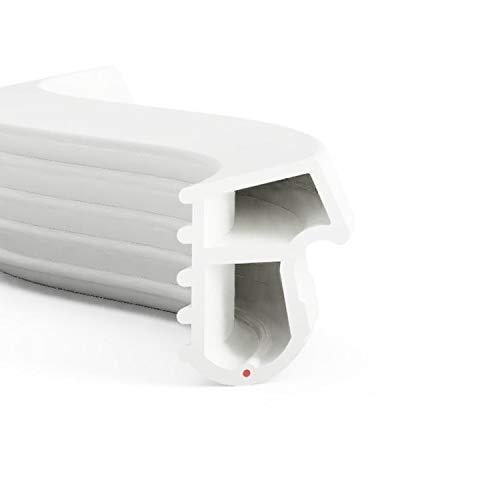 DIWARO® Stahlzargen-Dichtung SZ090 | weiß, braun oder grau | 5 lfm für Haus- und Innentüren. Zum Schallschutz und abdichten der Tür. Bestehend aus TPE (Thermoplastischen Elastomer) (weiß)