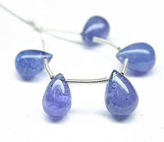 Jewel Beads Natural Beautiful jewellery Natural Blue Tanzanite Smooth Briolette Tear Drop Beads Strand 13mm 12mm 5pcCode:- JBB-48120