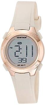Armitron Sport Women s Digital Chronograph Blush Pink Resin Strap Watch 45/7135PBH Blush Pink/Rose Gold