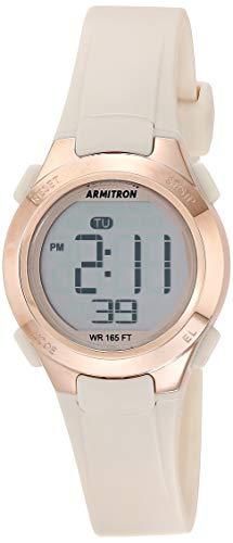 Armitron Sport Women's Digital Chronograph Blush Pink Resin Strap Watch, 45/7135PBH