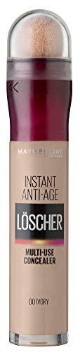 Maybelline New York Abdeckstift, Instant Anti-Age Effekt Concealer, Löscher mit Mikro-Lösch-Applikator, Nr. 00 Ivory, 6,8 ml
