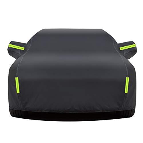 DUWEN Telo Copriauto Esterno Impermeabile Compatibile con Alfa Romeo Giulia/Stelvio/Giulietta/MiTo/147/159, Auto Copertura con Chiusure Lampo Telone per Auto Copertura Protezione Solare