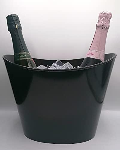 Secchiello per ghiaccio Fresh1-2 bot o bottiglia magnum nera (h22 cm x l30 cm x 18,5 cm)
