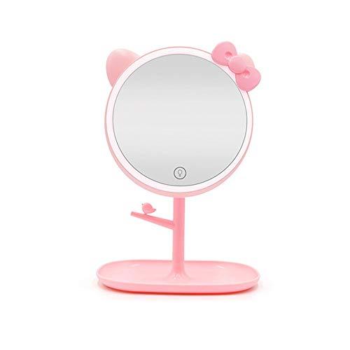 WanuigH Make-upspiegel van LED Vanità spiegel met voedselveilige bodem met de salontafel voor make-upspiegel van make-up spiegel USB