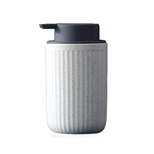 Dispensador De Jabón De Cerámica Blanca Cremosa 400 Ml / 14 OV Botellas De Loción Loción Recargable Dispensadores Premium For La Cocina Baño