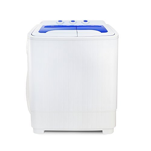 Barton Portable Compact Washer & Spin Dry Cycle Timer Top Load Washing Machine w/Built in Drain Pump