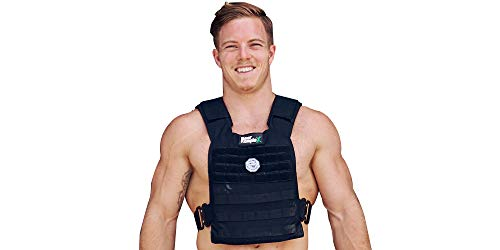 Bear KompleX Weight Vest - Military Grade, Easily Adjustable, Gym Training Jacket with Heat Treated Steel Alloy Buckles for Strength & Crossfit Training, for Men & Women, Plates Sold Seperately