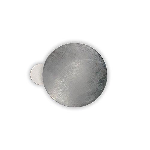 25 x Selbstklebende Metallplättchen (verzinkter Stahl, Ø 31 mm, Höhe 0,3 mm)