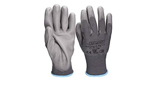 Feinstrick-Handschuhe BINGOLD, PU-beschichtet, grau, Größe 11/ XXL