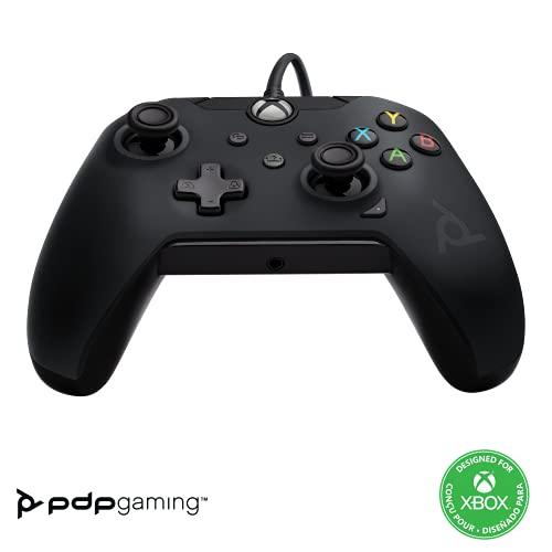 PDP Gaming Wired Controller: Raven Black - Xbox Series X|S, Xbox One, Xbox, Windows 10, 049-012-NA-BK - Xbox Series X