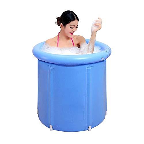 Nologo WHJYO Tragbare Kunststoff-Falten Badewanne, Hydromassage for Erwachsene aufblasbare Badewanne, Dicke Plastikeimer Badewanne