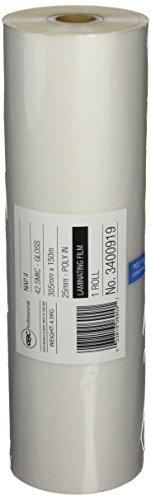 GBC 3400919EZ - Pack de 2 bobinas de película para laminación 25C, 305 mm x 150 m x 42,5 micras -mandril