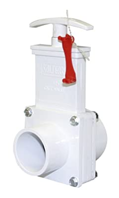 "Valterra 6102X PVC Gate Valve, White, 1-1/2"" Slip x Spigot w/Gate Keeper by Valterra Products"