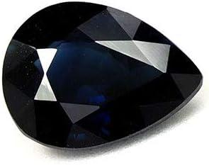 GemsNY 1.38 Carat Natural Rare Blue Sapphire Recommendation Pear
