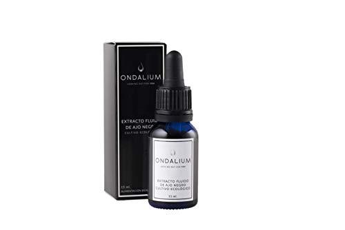 Ajo Negro Ondalium   Extracto Fluido Concentrado de 15 ml (un mes) – El formato que mejor absorbe el organismo, aprovechando todos sus beneficios   Ajo Negro Ecológico español de máxima calidad